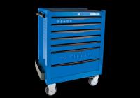 Тумба  инструментальная 7 полочная (каждая полка с фиксатором) Синяя