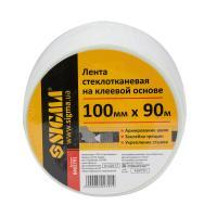 Лента стеклотканевая на клеевой основе 100мм×90м SIGMA (8402791)
