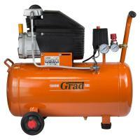 Компрессор одноцилиндровый 1.5кВт 198л/мин 8бар 50л (2 крана) GRAD (7043545)