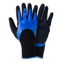 Перчатки трикотажные с двойным нитриловым покрытием р9 (сине-черные манжет) Sigma (9443671)
